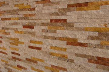 Split Stone Mixed Of Four Colors Travertine